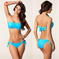 Cheap Push Up Bikini Sets Women Swimwear Suit Padded Beach Wear Bikini Suits chinlon Swimming Set Various Color DM060