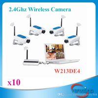 audio security system - 2 G wireless digital cctv security audio video camera DVR system kit night vision ZY SX