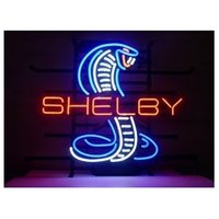 Wholesale NEW SHELBY COBAR AUTO HANDICRAFT NEON LIGHT BEER BAR PUB REAL GLASS TUBE SIGN x14 quot