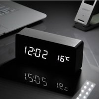 alarm clock professional - 2015 Home decor cute desktop clock mesa de som Electronic Led clock professional sounds control Alarm clocks Digital LED Clocks