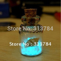 Wholesale Fluorescent Lucky Sand Love phone chain Wishing bottle Romantic love lucky couple gifts