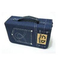 cd wallet - 128 Capacity CD DVD Holder DJ Storage Case Bag Disc Wallet Music Album Blue