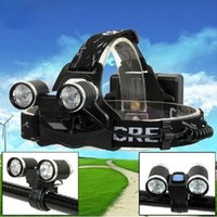 outdoor torches - 240LM Ultra Bright CREE XPE R2 LED Bicycle Light Headlight Bike Headlamp Torch Outdoor Night Fishing Hunting Camping Cycling H13349