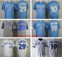 baby wells - 30 Teams Baby Blue Joe Carter Jersey Vintage Toronto Blue Jays Vernon Wells Retro Jersey Paul Molitor Throwback Jersey White