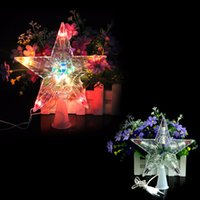Wholesale Xmas Christmas Tree Topper Star Light Party Color Changing LED Lamp Decoration