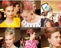 Cheap Women's Highlight Bleach and dye Straight Hair Wig Clip Piece Hairpin Hairpiece Clip on Hair Extension Headwear FEAL ZH20