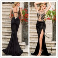 wrap dress - 2015 Sleeveless Hollow Out Lace Embroidered Mesh Wrap Maxi Long Black Evening Dress LC6839