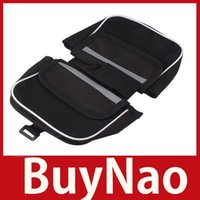 bicycle side bags - BuyNao Black Sport Cycling Bike Bicycle Frame Pannier Front Tube Bag Double Side hours dispatch