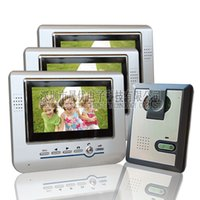 Wholesale Delayed three inch color video intercom doorbell wired hands free videophone S703 villa