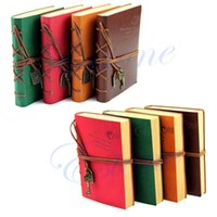 Wholesale Vintage Retro Leather Classic String Key Blank Diary Notebook Journal Sketchbook