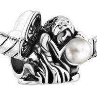 bead jewelry ideas - new Pearl Angel charm bracelet beads Suitable for all jewelry brand bead bracelet ideas