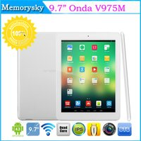 Wholesale Onda V975M V3 inch Quad Core Tablet PC Android Cortex A9 GHz IPS Retina x1536 GB GB HDMI Bluetooth Tablets