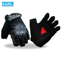 bicycle web - 2015 Hot Selling Arsuxeo Warm Cycling Gloves Bike Bicycle Ciclismo Spider Web Luva Cheap Half Finger Man Women Women M XL High Quality