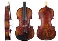 Wholesale SELECTED Copy of Stradivarius Violin Advanced Level Siberian Spruce Maple Handmade Oil Varnish Free bow rosin case