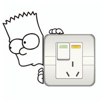 art bart - the bart Simpsons cute cartoon switch stickers on off stickers wall decoration vinyl decal off the wall vintage poster