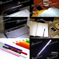 mini notebook laptop - Flexible Laptop Notebook Light Led Lamp USB LED Reading Eye protection Lamp Computer Metal Plastic Mini Bright Free DHL UPS Factory Direct