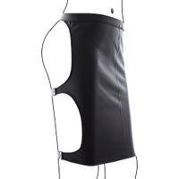 Wholesale 2016Adjustable full black Leather Bondage Jacket Straitjacket Armbinder t C128