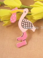 baby dying - 2 cm High quality baby Wooden duck die cut with self adhesive