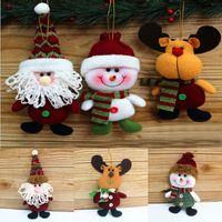 venda por atacado christmas decorative ornaments-Hot mais novo Xmas Tree Christmas Doll ornamentos pingente rena Elk Home Store Cerca Outdoor decorativa