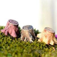 Wholesale Crafts Decorations Miniature Multicolour Tree Stump Fairy Terrarium Christmas Xmas Party Garden Gift