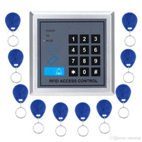 access pad - RFID Promixity Door Access Control Keypad EMID Controller Users Standalone Pad With RFID Khz Keychains Keytags offered
