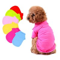 Wholesale New Cute Pet Dog Clothes Polo Cool Puppy Dogs T Shirts Clothing Doggy Apparel Size XS S M L Freeshipping DropShipping