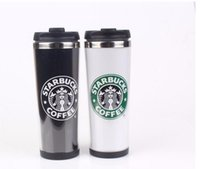 Wholesale Starbucks Double Wall Stainless Steel travel Mug Flexible Cups Coffee Cup mug Mug Tea Travelling Mugs Tea Cups Wine Cups Hot DHL free