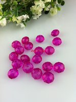 Wholesale 8mm Hot Pink Color Crystal Beads Round Shape Crystal Rondelle Beads
