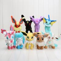 best toys - Poke plush pikachu Styles cm plush toy Glaceon Leafeon Eevee Vaporeon Flareon Espeon Jolteon Umbreon stuffed doll Best gift