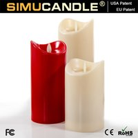Wholesale Home Decoration Led Flameless Candle Light With Moving Wick and Timer Function USA EU Patents Aprroved