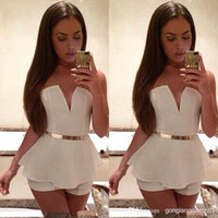 ladies trousers - Sexy Womens Lady V Neck Sleeveless Bodycon Jumpsuit Romper Trousers Clubwear New