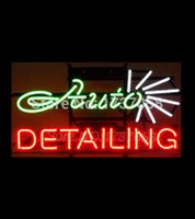 auto glass advertising - 2015 Hot Neon sign AUTO DETAILING neon sign handicrafted real glass custom neon sign bar lights neon lamp advertising quot