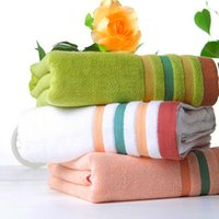 Wholesale Thick towels beach towels bamboo fiber material soft and comfortable four color options