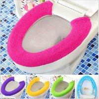 Wholesale 2015 Winter Buttons Toilet Mat Cover Plush Universal Toilet Seat Case Candy Color Ultra Comfortable Toilet Sets Covers JJ259