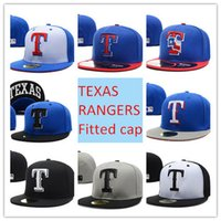 mlb caps - D0189 Texas Rangers Baseball Cap Embroidered Team logo MLB Fitted Cap Famous Star Hip Hop Faverate