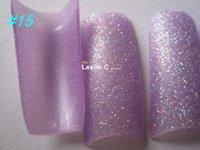 Cheap Wholesale-Free shipping--Wholesales 70PCS Set Fashion purple Glitter False Nail Tips fake Nail Pre Design Acrylic Nail Art Manicure#15