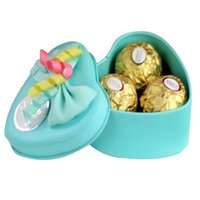 heart shaped tin box - Marry candy box bow pearl heart shaped metal tin box wedding cute boxes colors for choice