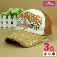Wholesale Men do the old lady fashion denim dimensional embroidery retro mesh cap summer cap sub vilan Accessories a010