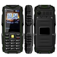 Wholesale Cheap Rugged Waterproof Power Bank Mobile Phone UNIWA F8 IP67 Inch mAh Real Battery Dual SIM card Cell Phone with torch