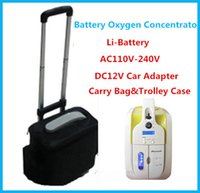 battery shopping - 110V V DC12V L Portable Oxygen Concentrator JAY With rechargeable Li ion Battery Car Adapter for Medical Home Travel Shopping Use