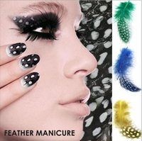 acting real - pieces Real feather nail art act the role ofing is tasted nail decorations hot selling