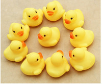 Wholesale 2015 Baby Bath Water Toy toys Sounds Lovely Yellow Rubber Ducks Kids Bathe Children Swiming Beach Gifts