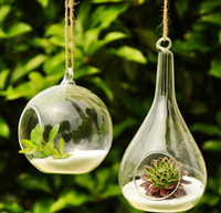 glass decor - Hanging Air Plant Terrarium Wedding Candles Glass Ball Tealight Holders Wedding or Home Decor candlestick