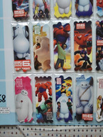 Wholesale 2015 high quality creative cartoon bookmarks paper Lovely Baymax Sky paper notes many options