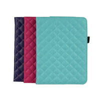 amazon soft cover - 3 Colors Kindlefire HD Soft High Quality Cotton Grid Pattern Cover Foldable Standing For Display Fire Tablet