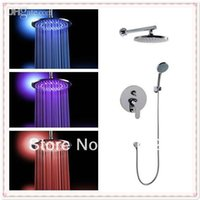 bathrom set - inch cm brass lighting big led shower head whole shower set together good cheap price for promotion bathrom tools lamp