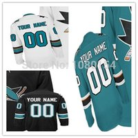 best sewing - 2016 New Cheap Sharks Custom Hockey Jerseys Blue White Black San Jose Sewing On Best Jerseys Customized Your Own Name Number Jer