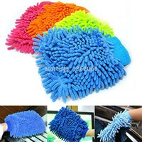 Cheap Top sale 2015 Single wash plush Cache gloves Microfiber Cleaning dust cleaning cloth wipe car towel solid color gloves MRL0034