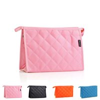Cheap Fashion New 1Pcs Solid Pencil Pen Bag Cosmetic Makeup Storage Pouch Bag Large Capacity Travel Storage Case 5 Colors ZD0050 Smileseller