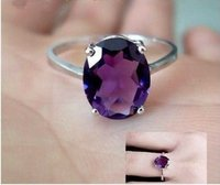 beautiful ring images - Beautiful In Stock Real Image Oval Cut Purple Amethyst Gemstone Ring Silver Rings Size Crystal For Prom Party Wedding Ring